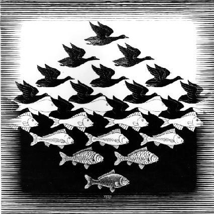Céu e Água, Escher (1938)